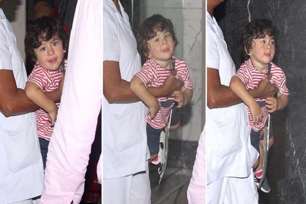 taimur ali khan spotted at bandra with nanny