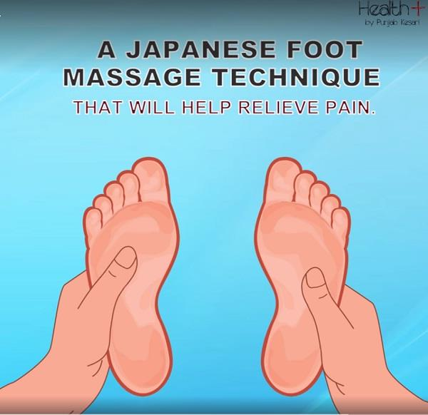a japanese foot massage technique that will help relieve pain