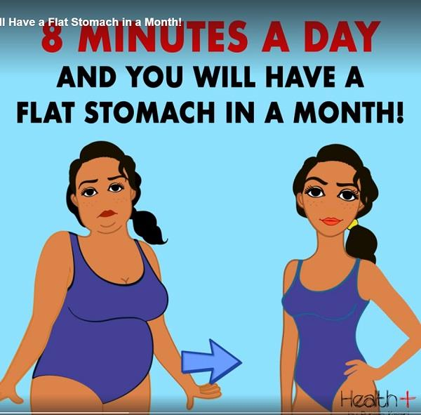8 minutes a day and you will have a flat stomach in a month