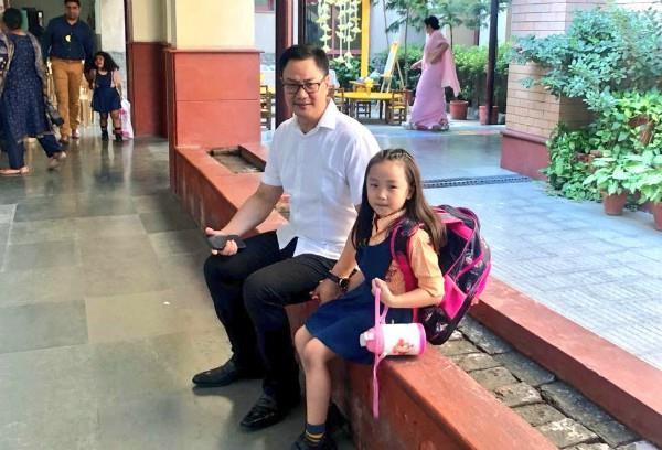 daughter s cute request from kiren rijiju
