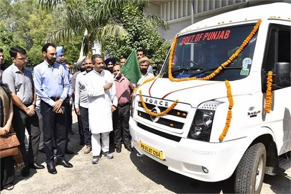chandigarh pwd minister launches ultra modern van