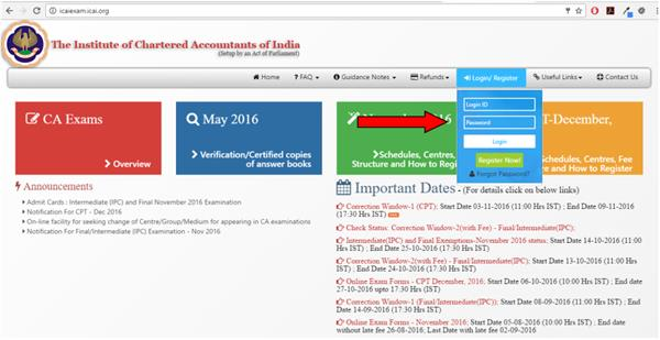 icai admit cards 2018