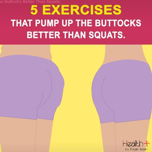 5 exercises that pump up the buttocks better than squats