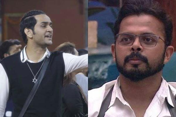 sreesanth and vikas gupta gets into ugly fight