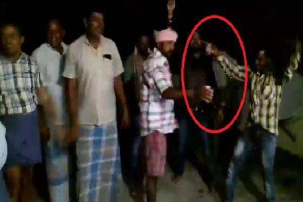 nalanda blows ban on alcoholism birthday party sprayed with villagers  teachers