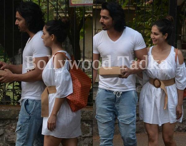 kim sharma spotted in hot look with boyfriend harshvardhan rane