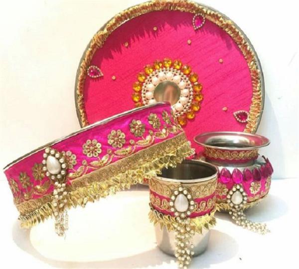 करवा चौथ व्रत के लिए इस तरह करें Thali Decoration