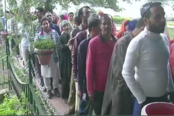 first phase voting for ubl poll ends in kashmir