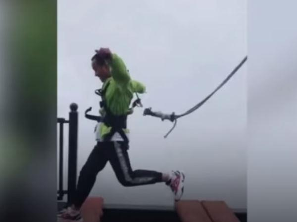 safety cord opened when jumping on a 500 feet high bridges