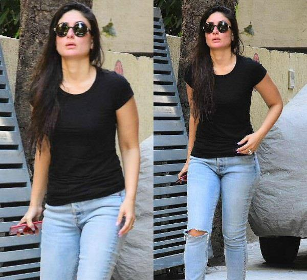 kareena kapoor khan reached karishma kapoor house