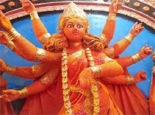 Eco Friendly: मसूर की दाल से बनी हैं दुर्गी की प्रतिमा