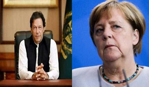 imran and merkel talk about india afghanistan issue