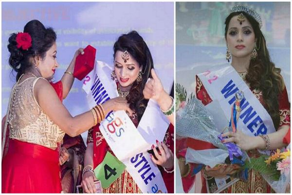 himachal mamta thakur miss glamor crown of chandigarh 2018