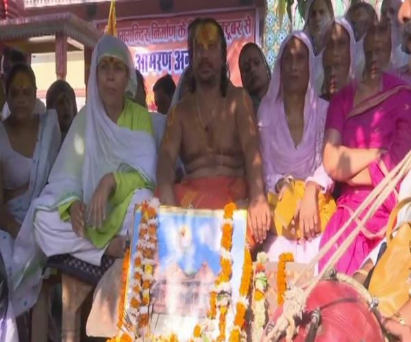 paramahansa das sitting on hunger strike for construction of ram temple