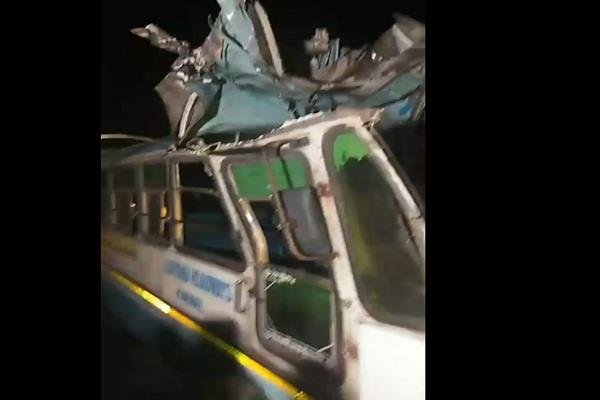 big bus accident in karnal many people feared to die