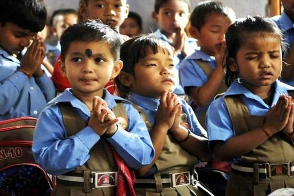 school in charge suspended for separation of hindu muslim students