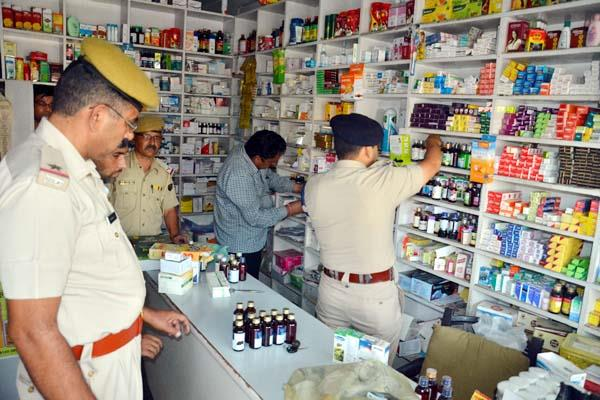 police raid in una ban medicine recovered from medical store