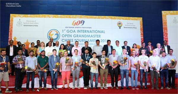 1st goa international open grand masters chess tournament 2018
