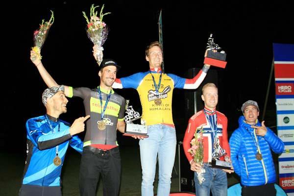thomas of norway won the mtb himalaya cycle race