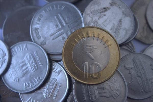 falling 2 paise with open rupee at 70 89