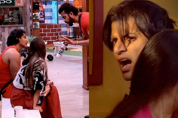 karanvir and sreesanth fight with each other during bb goan ki rangoli task