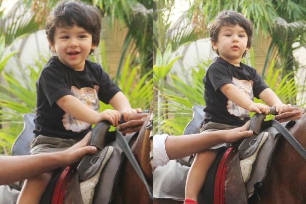 taimur ali khan enjoy a horse riding