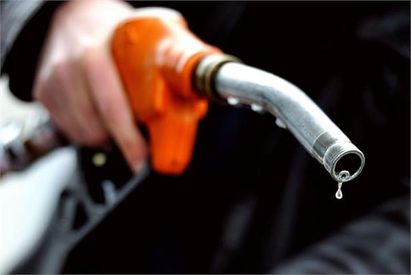 the price of petrol and diesel today is declining