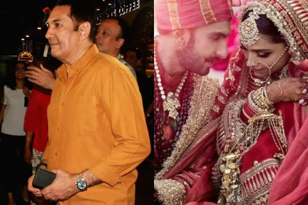 ranveer father goes filmy as he welcome deepika to family