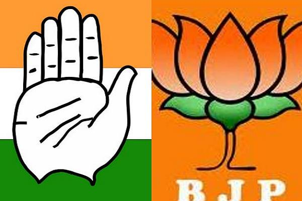 bjp shocks ec disrupts congress s advertisement