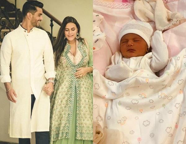 neha dhupia daughter first pic