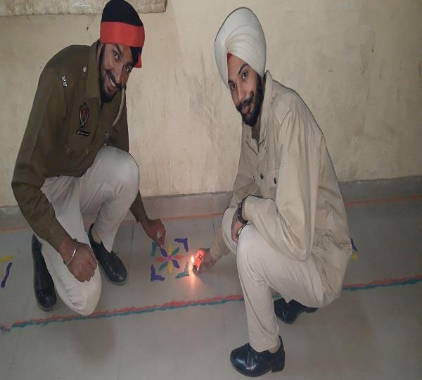 diwali celebration in police station