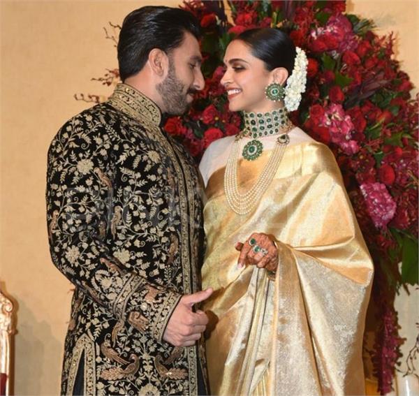 DeepVeer Reception:पत्नी दीपिका का पल्लू संभालते दिखे रणवीर, पार्टी में ली शानदार एंट्री