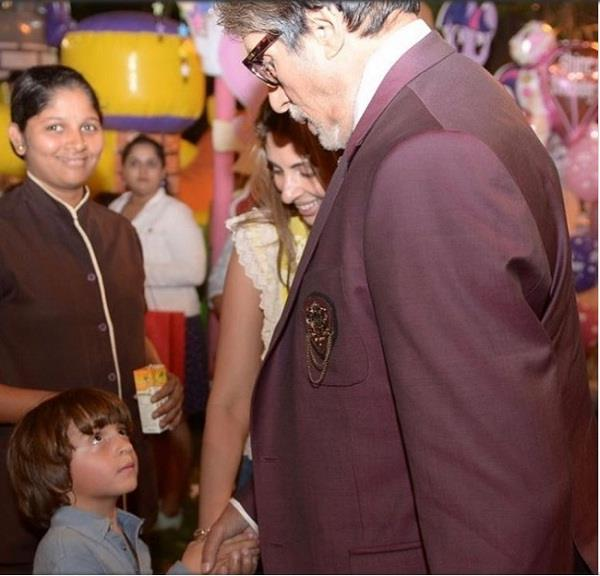 abram is convinced amitabh bachchan is shah rukh khan father