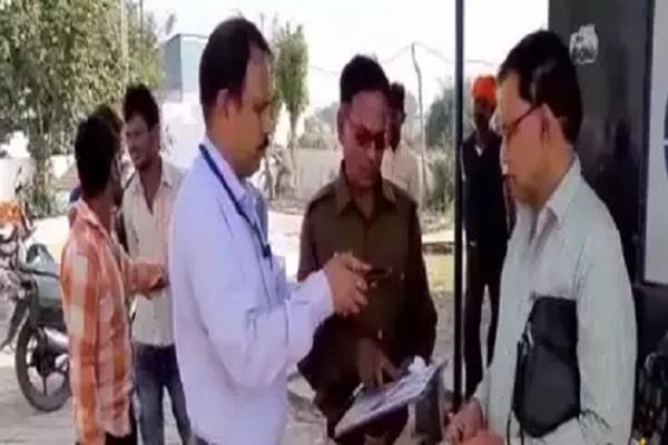 mp election petrol pump seal of agriculture minister gaurishankar bisen