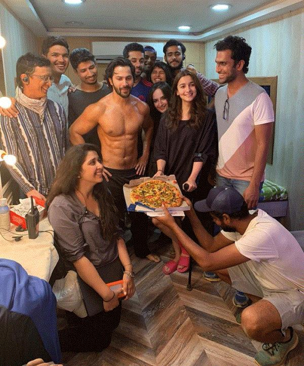 alia and varun celebrate kalank schedule wrap with a pizza party