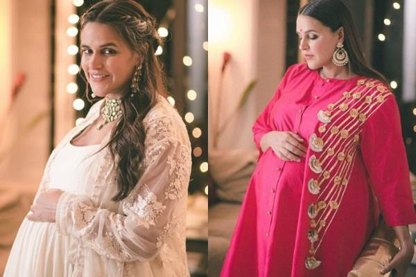 neha dhupia pose with baby bump in new photoshoot