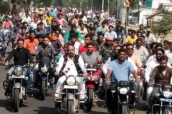 this minister arrived in the form of a bike rally