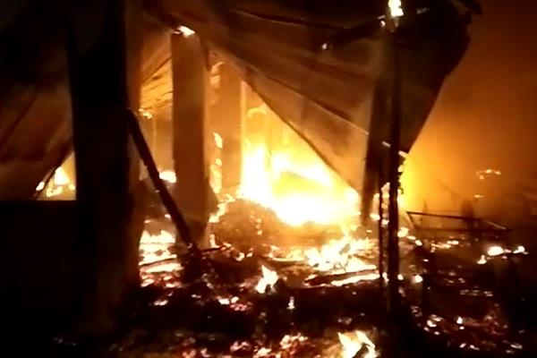 fire in vegetable market loss of millions