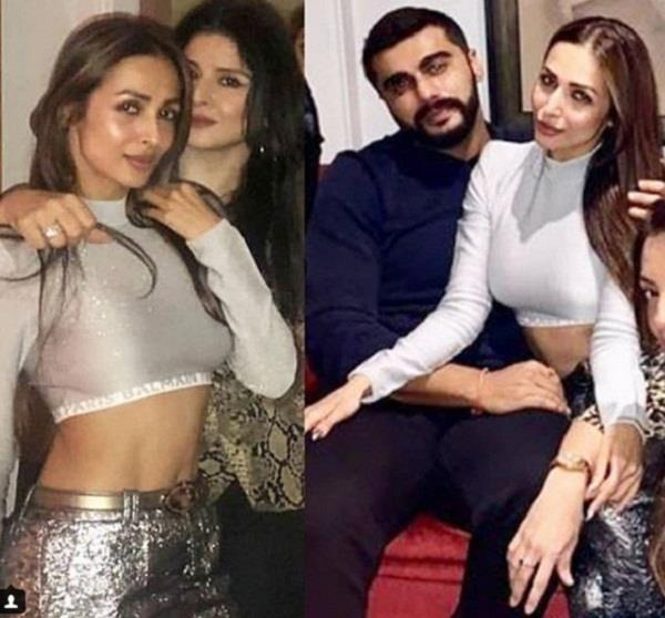 malaika and arjun first time late night party with aunt maheep kapoor