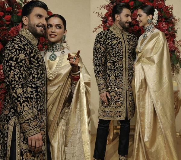 deepika padukone wear 3 lakh rupees saree in bengaluru reception