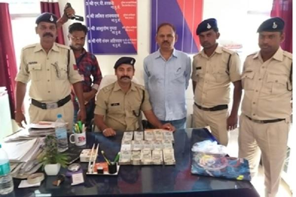 police seized 3 lakh 10 thousand from scorpio