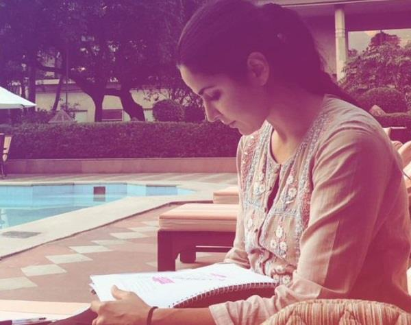 katrina kaif looks busy in script reading sessions