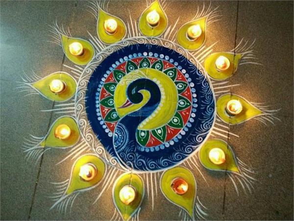 Diwali Decor: रंगोली के 10 आसान डिजाइन