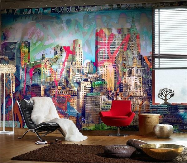घर को मार्डन टच देंगे ये 15 Graffiti Wall Texture डिजाइन्स