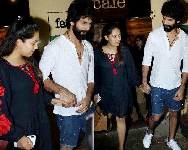 shahid kapoor and mira rajput spotted at dinner date