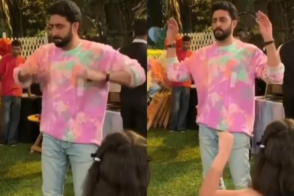 abhishek bachchan dance on the occasion of aaradhya birthday