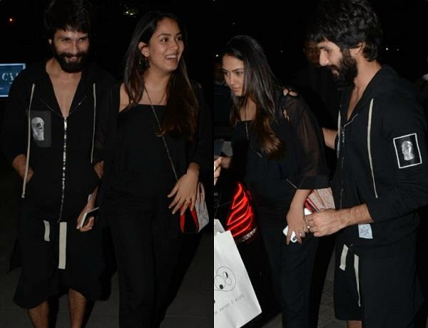 shahid and mira looks gorgeous in black outfit