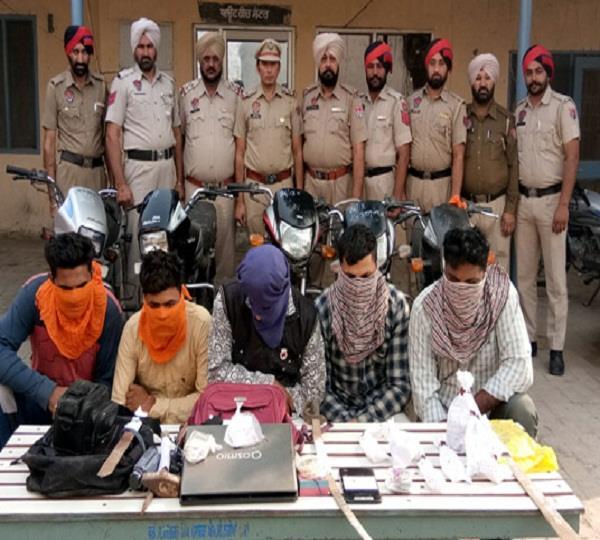5 arrested