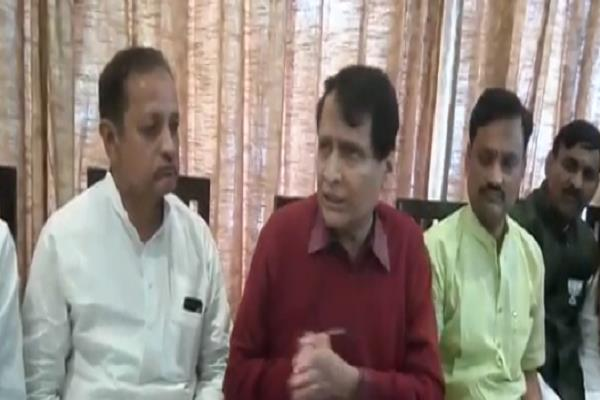 a big comment on union minister suresh prabhu