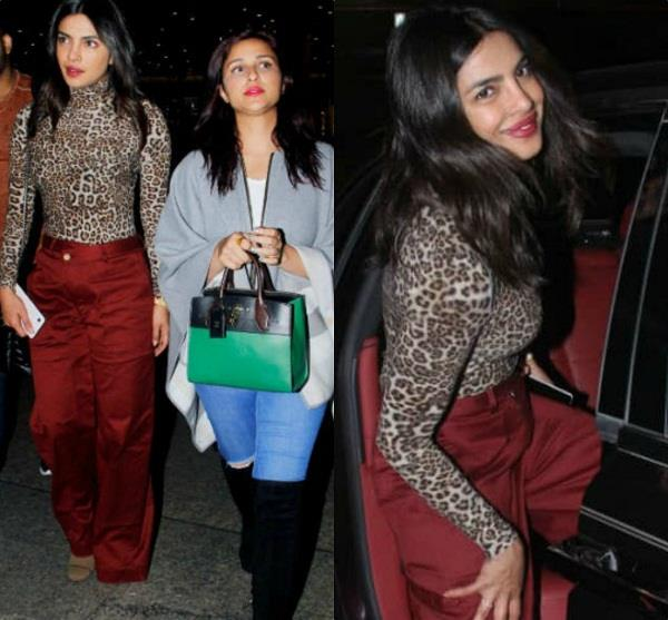 priyanka chopra returns to mumbai with parineeti chopra